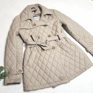 TOMMY HILFIGER quilted coat puffer trench size M